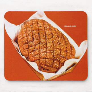 Kitsch Vintage Food 'Ground Beef' Mouse Pads