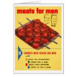 Kitsch Vintage Food 'Meats For Men' Cook Book