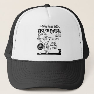 Kitsch Vintage Fried Chicken Ad Art Trucker Hat