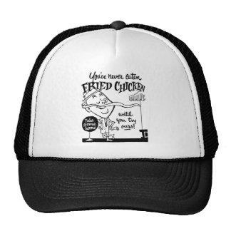 Kitsch Vintage Fried Chicken Ad Art Trucker Hat