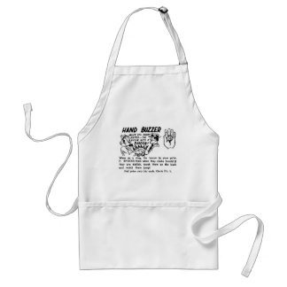 Kitsch Vintage Gag Magic Trick Hand Buzzer Adult Apron