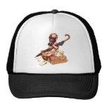 Kitsch Vintage Gas Mask War Baby Trucker Hat