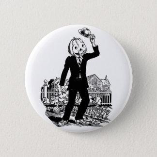 Kitsch Vintage Halloween 'Mr. Pumpkinhead' Pinback Button