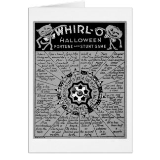 Kitsch Vintage Halloween 'Whirl-O Game' Card
