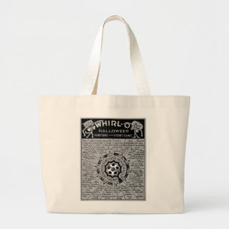 Kitsch Vintage Halloween 'Whirl-O Game' Large Tote Bag