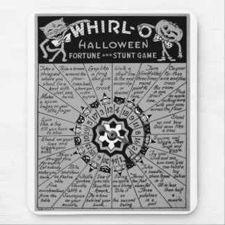 Kitsch Vintage Halloween 'Whirl-O Game' Mouse Pad