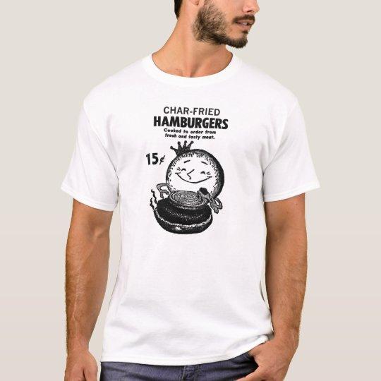 Kitsch Vintage Hamburgers 'Char-Fried' T-Shirt