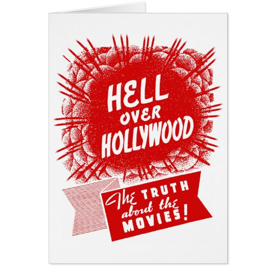 Kitsch Vintage Hell Over Hollywood Card