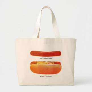Kitsch Vintage Hot Dog 'Weiners & Buns' Canvas Bags