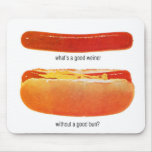 Kitsch Vintage Hot Dog 'Weiners & Buns' Mousepad
