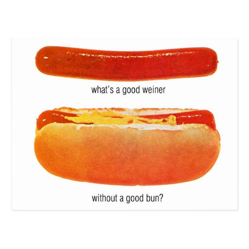 Kitsch Vintage Hot Dog 'Weiners & Buns' Post Cards