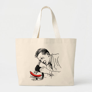 Kitsch Vintage Hot Dog Whats in these Darn Things? Jumbo Tote Bag