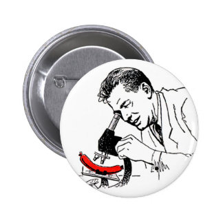 Kitsch Vintage Hot Dog Whats in these Darn Things? 2 Inch Round Button
