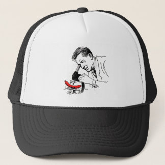 Kitsch Vintage Hot Dog Whats in these Darn Things? Trucker Hat