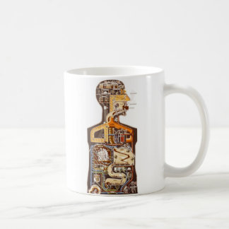 Kitsch Vintage Illustration 'What's Inside Man' Coffee Mug
