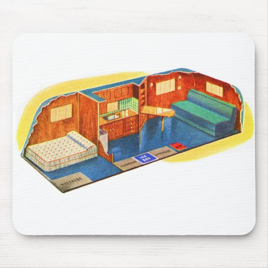 Kitsch Vintage Inside Your New Trailer! Mouse Pad