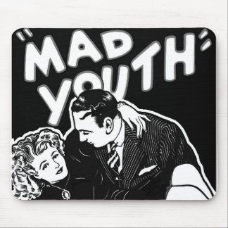 Kitsch Vintage Jazz Mad Youth Mouse Pad