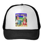 Kitsch Vintage Kid's 'Arts & Crafts' Book Mesh Hat