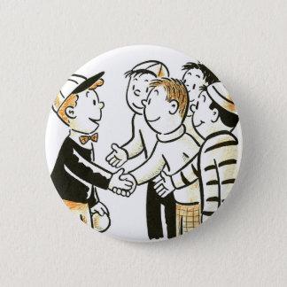 Kitsch Vintage Kids Good Buddies Button