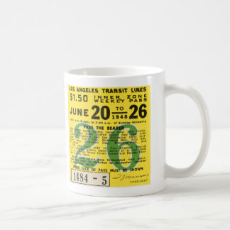 Kitsch Vintage L.A. Transit Ticket Coffee Mug