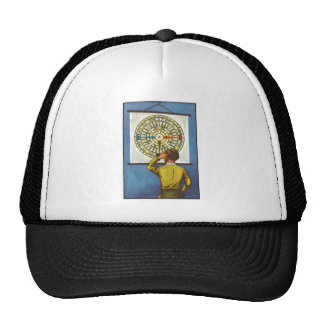 Kitsch Vintage Lost Direction Boy Mesh Hat