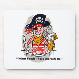 Kitsch Vintage Matchbook Hungry Pirate Mouse Pad