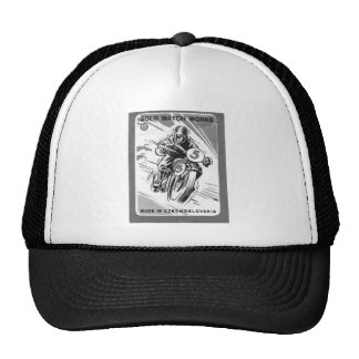 Kitsch Vintage Matchbook Solo Motorcycle Trucker Hat