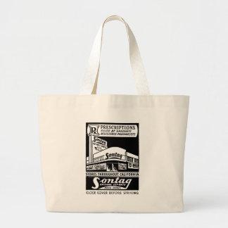 Kitsch Vintage Matchbook Sontag Drugstore Large Tote Bag