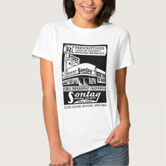 Kitsch Vintage Matchbook Sontag Drugstore T Shirt