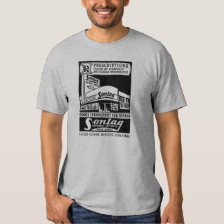 Kitsch Vintage Matchbook Sontag Drugstore Tee Shirt
