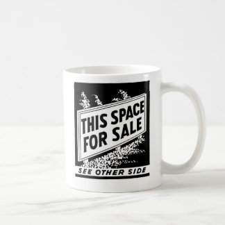 Kitsch Vintage Matchbook This Space For Sale Coffee Mug
