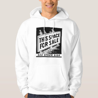 Kitsch Vintage Matchbook This Space For Sale Hoodie