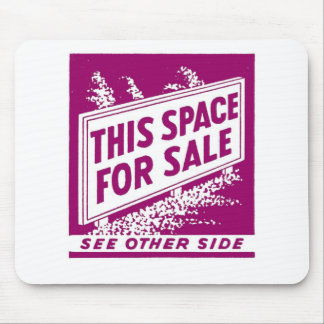 Kitsch Vintage Matchbook This Space For Sale Mouse Pad