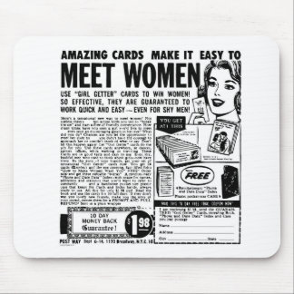 Kitsch Vintage Meet Women Ad Mouse Pad