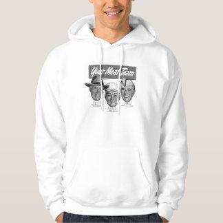 Kitsch Vintage 'Meet your Meat Team' Ad Art Hooded Sweatshirt