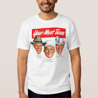 Kitsch Vintage 'Meet your Meat Team' Ad Art Shirt