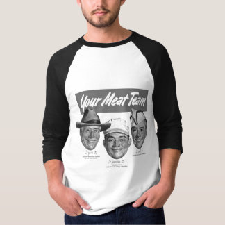 Kitsch Vintage 'Meet your Meat Team' Ad Art T-shirt