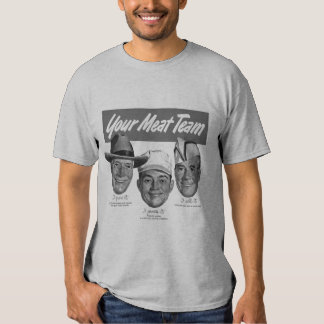 Kitsch Vintage 'Meet your Meat Team' Ad Art Tee Shirt