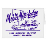 Kitsch Vintage Mobile Motor Lodge Motel Card