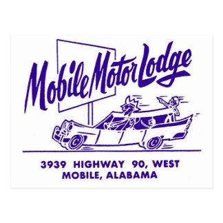 Kitsch Vintage Mobile Motor Lodge Motel Postcard