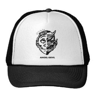 Kitsch Vintage Monster Angel and Devil Man Trucker Hats