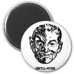 Kitsch Vintage Monster Dr. Jekyll & Mr. Hyde 2 Inch Round Magnet