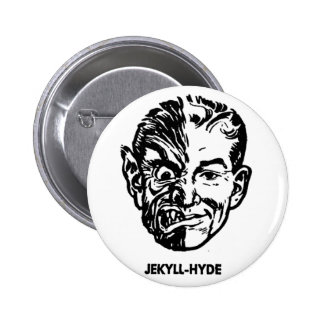 Kitsch Vintage Monster Dr. Jekyll & Mr. Hyde Pinback Button