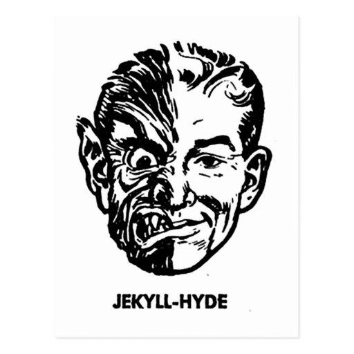 Kitsch Vintage Monster Dr. Jekyll & Mr. Hyde Postcards