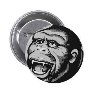 Kitsch Vintage Monster Gorilla Ape Button