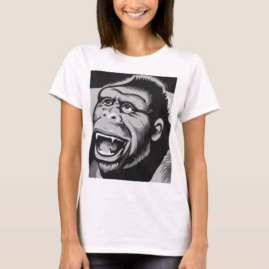 Kitsch Vintage Monster Gorilla Ape T-Shirt