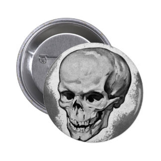 Kitsch Vintage Monster 'Skull' Pinback Button