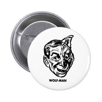 Kitsch Vintage Monster Wolfman Button