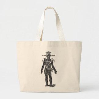 Kitsch Vintage Mr. Nerves Nerve Tonic Large Tote Bag