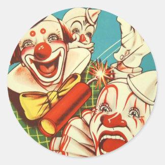 Kitsch Vintage Never Trust a Clown Classic Round Sticker